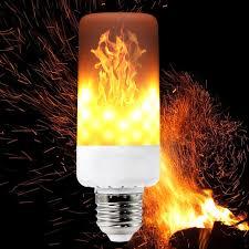 led flame effect fire light bulbs ywxlight e27 e26 b22 e12 e14 3 modes led flame effect fire light