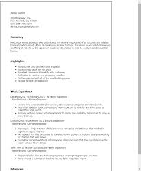 sle resume for civil engineering internship reports third party inspector resume sales inspector lewesmr