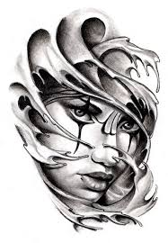 commissioned tattoo sketch chicano style by andreadiamondtattoo