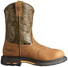 ariat s workhog pull on waterproof composite toe work boots