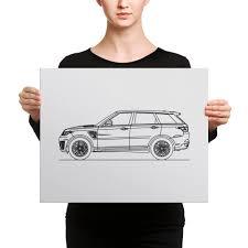 range rover sport drawing range rover sport svr minimal line art canvas u2013 artlinesdesign