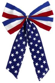 white and blue bows preview your bunting before you buy independence bunting