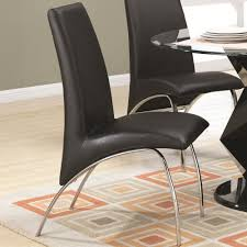 Designer Dining Chairs Amazon Com Coaster 120802 Ophelia Contemporary Vinyl And Metal