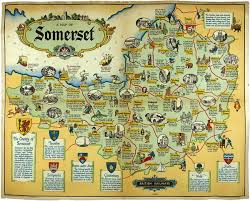 somerset map somerset j p sayers map of somerset lithograph in colours