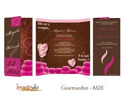 theme mariage gourmandise faire part mariage gourmandise et cocholat sucettes et