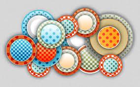 vector circles with colorful designs desktop wallpaper