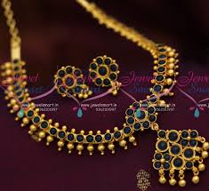 colour gold necklace images Nl8248 sapphire color spinel stones handmade traditional jewelry JPG