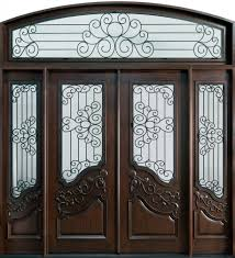 outstanding mahogany walnut front door frame with double frosted