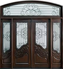 Home Door Design Gallery Outstanding Mahogany Walnut Front Door Frame With Double Frosted
