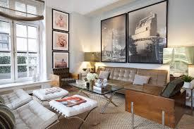 mid century modern living room black sofa comfortable sectional