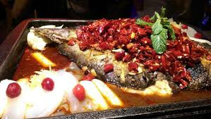 cuisine r馮ime 藤老二嘗鮮美食 台中水貨烤魚 引自中國重慶的烤魚 吃完隔天就會菊花
