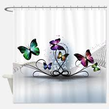 Purple Butterfly Curtains Butterfly Shower Curtains Cafepress