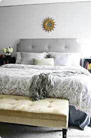 Design For Tufted Upholstered Headboards Ideas How To Make A Diy Tufted Headboard From Thrifty Decor