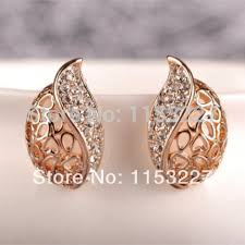 new jhumka earrings 11 11 shopping festival new delicate model diamante hollow out