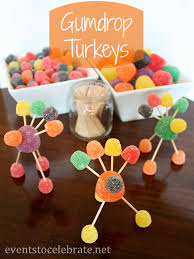 thanksgiving crafts for gumdrop turkeys events to celebrate