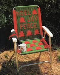 Retro Folding Lawn Chairs Vintage Macrame Lawn Chair Folding Chair Macrame Pattern 1970s
