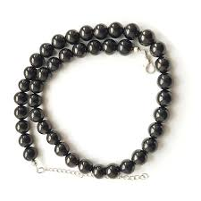 round beads necklace images Shungite necklace with 40 round beads 10 mm shungite wholesale jpg