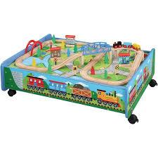 thomas train set wooden table 62 piece wooden train set with train table trundle brio and thomas