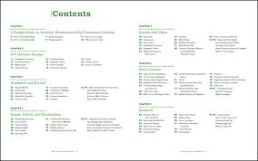 cookbook table of contents green teen cookbook sle interior pages on behance