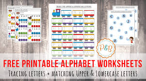 alphabet worksheets free printable tracing u0026 matching letters