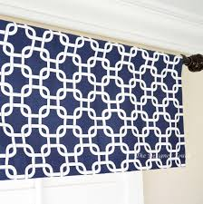 navy blue red white window treatments valance panels 52