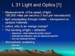 What Is The Speed Of Light L 31 Light And Optics 1 Measurements Of The Speed Of Light