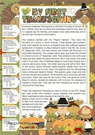 the origins of thanksgiving esl worksheets of the day