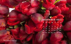 november 2014 calendar flower muse