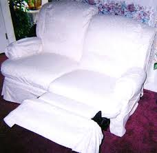 can you put a slipcover on a reclining sofa how to make a slipcover for a recliner stretch double