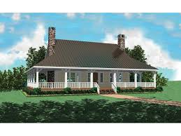 farmhouse with wrap around porch chambersburg mill acadian home plan 087d 0389 house plans and more