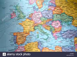Map Of The World With Continents by Illustrated World Map With Countries And Continents Stock Photo