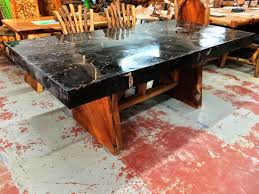 petrified wood dining table petrified wood dining table with slab legs primefurniturehouston com