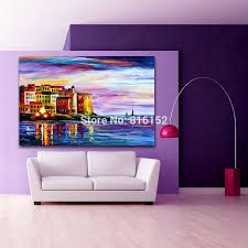 online get cheap european architecture oil painting on canvas