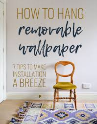 how to hang removable wallpaper one room challenge week 5