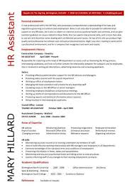 human resources resume exles hr resume sles hr assistant cv 5 hr assistant cover letter 5