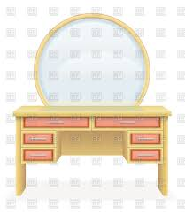 Download Vanity Vanity Table With Mirrow Vector Clipart Image 92201 U2013 Rfclipart