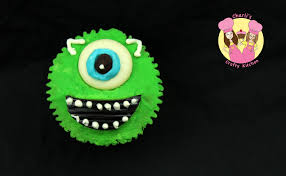 decorate a monsters inc mike wazowski cupcake monster
