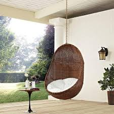 Modern Patio Swing Modway Furniture Modern Bean Outdoor Patio Swing Chair In Coffee