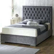 King Bed Frame Upholstered Bed Frame Upholstered Chenille Fabric Upholstered Bed Frame King