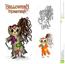 Scary Halloween Monsters by Halloween Monsters Scary Cartoon Rotten Zombie Eps Royalty Free