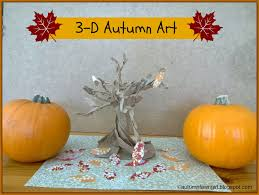 brandi raae 3 d autumn art paper bag tree