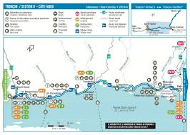 St Lawrence River Map Tadoussac To Baie Comeau