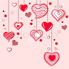 greeting card with different hearts stock vector
