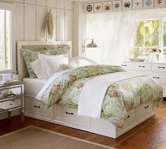 bedroom furniture with lots of storage stratton storage platform bed with drawers pottery barn