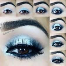 dress 20906 blue metallic eye makeup makeup for brown eyes
