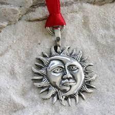 pewter sun moon lunar solar celestial pagan