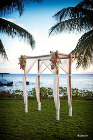 4 post bamboo maui wedding arch at the sugarman estate www