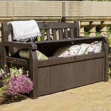 Storage Seating Bench Patio Storage Benches For Organize Your Garden Elegant Furniture