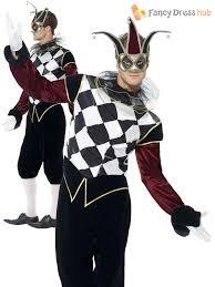 venetian jester costume venetian harlequin costume mens evil jester