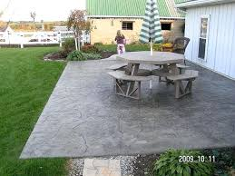 Cement Designs Patio Impressive Backyard Cement Patio Ideas Back Yard Concrete Patio